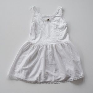 Vintage Girls Dress Slip Size 6 White